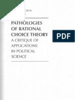 Rationality in politics and economics - donald p. green and ian shapiro