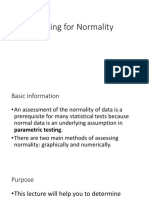 Testing for Normality 2