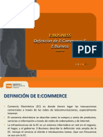 Definiciones de E-Commerce E-Business