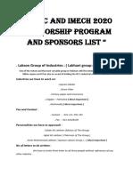 IDBFC and IMech 2020 Sponsorship program and Sponsors list.docx