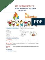 Proyecto de Aprendizaje Nancy Derechos de Los Niños
