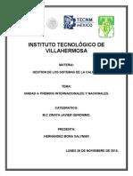 Gestion Sis de La Calidad u4 PDF