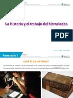 La Historia y el trabajo del historiador