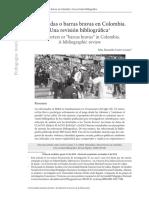 Inchadas o barras bravas en Colombia