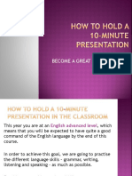 How to Hold a 10-Minute Presentation