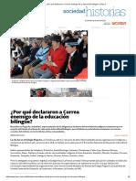¿Por Qué Declararon a Correa Enemigo de La Educación Bilingüe_ _ Plan V