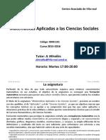 Matematicas Aplicadas a Las CC SS-2015-16