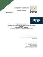 Esquema de Diseño Instruccional de La Materia Historia de México I