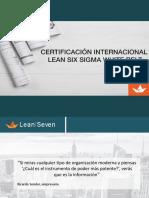 Certificación Six Sigma White Belt.
