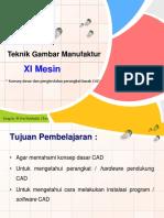 1. Konsep Dasar CAD