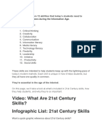 21st Century Skills Are 12 Abilities That Today for Essay