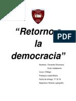 retorno democracia chile1990