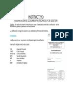 Codificacion de Doc. y Planos