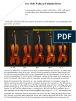 Viola History and Specifications