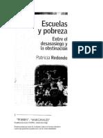 Redondo Patricia, Escuelas y pobreza