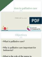 Palliative Care and the Role of Nurses (en)