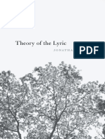2017 Culler, Jonathan D. - Theory of the Lyric-Harvard University Press (2017)