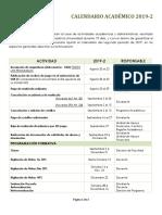 Calendario Academico 2019 II