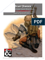Beast Binder Character Build Guide