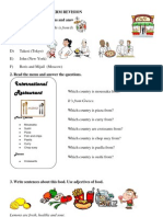 Worksheet First Term Revision 1