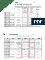 horario semestral 2019