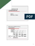 Arquitectura de  Computadoras (Clase 2) Estructura Básica