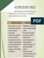 4.- Diferencias Entre Desastre y Riesgo