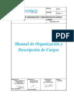 Manual de Organización y Descripción de Cargos