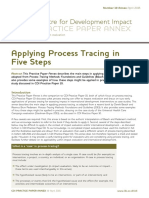 Applying process tracing in 5 steps