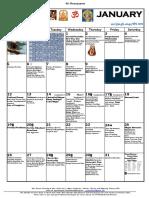 2020 Panchangam and Calendar