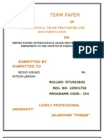 Term Paper Import Export (International Trade) Procedure Still an Impediment to the Growth of Foreign Trade