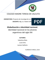 PROYECTO de INVESTIGACIÓN - Globalización e Identidad Nacional