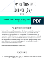 victims of domestic violence - vulnerable population