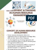 Development & Training in Human Resource Management Ppt-1