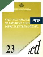 Efectos e implicaciones de variables fisiológicas sobre el entrenamiento