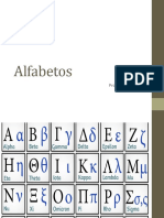 Língua e Fala Alfabetos