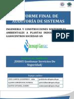 Informe Final de Auditoría de Sistemas