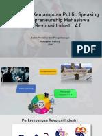 Kemampuan Public Speaking dan Entrepreneurship Era Revolusi Industri 4.0