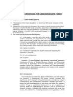 Technical Specification for Undergraduate Thesis Ed