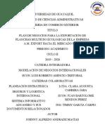Plan de Negocios Para La Exportacion de Planchas Ecologicas de La Empresa Export AM S.a. Hacia El Mercado Suizo