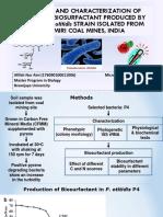 Mid Test - Glycolipid Biosurfactant Produced by p. Otitidis