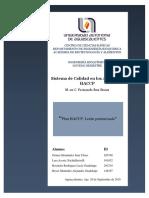 HACCP Leche Pasteurizada