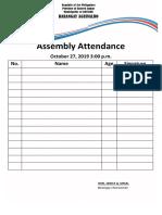 Assemble Attendance