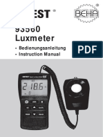 93560 3222543 Luxmeter MANUAL Light Meter en de Version