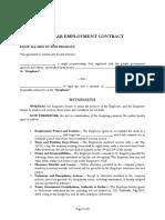 Regular Employee Contract Sample