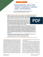In vivo pharmacokinetics and in vitro pharmacodynamics of nepafenac, amfenac, ketorolac, and bromfenac