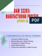 Week 8 - Metal Forming