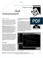 Hamilton C Shell Announcement - Douglas A. Hamilton - IBM Personal Systems Developer - Summer 1989