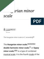 Hungarian Minor Scale - Wikipedia