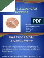 Capital Allocation Method